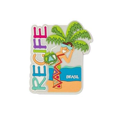 Imã de geladeira emborrachado praia - Recife