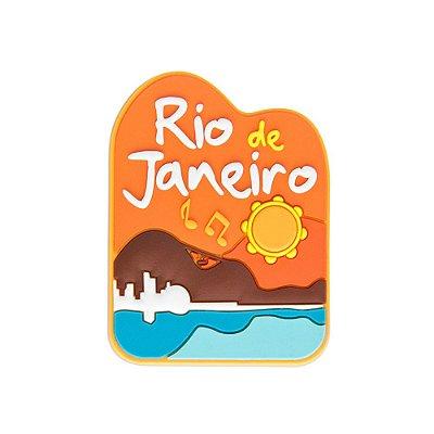 Imã de geladeira emborrachado praia - Rio de Janeiro