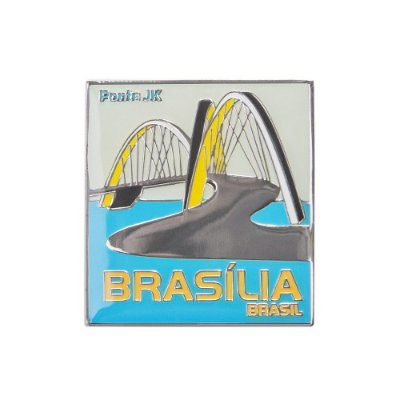 Imã de geladeira metal ponte JK - Brasília