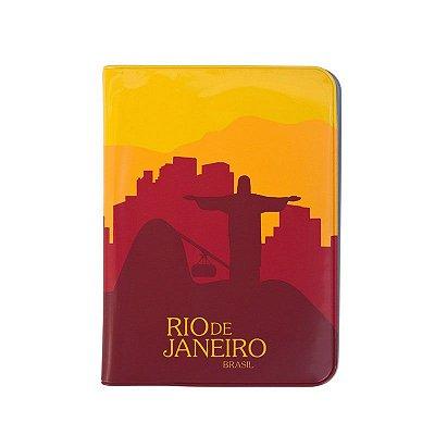 Capa para passaporte PVC vermelho - Rio de Janeiro