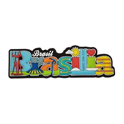 Imã de geladeira Brasília escrito