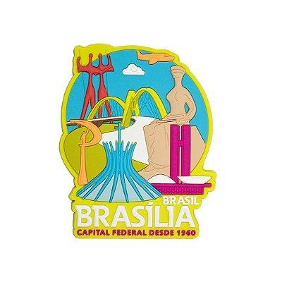 Imã de geladeira Brasília mon verde