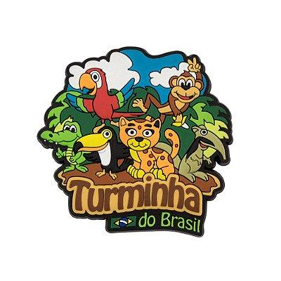 Imã de geladeira Turminha do Brasil
