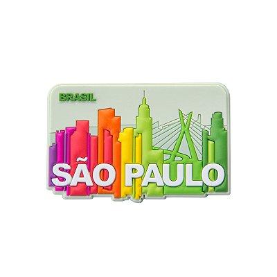 Imã de geladeira emborrachado city - São Paulo