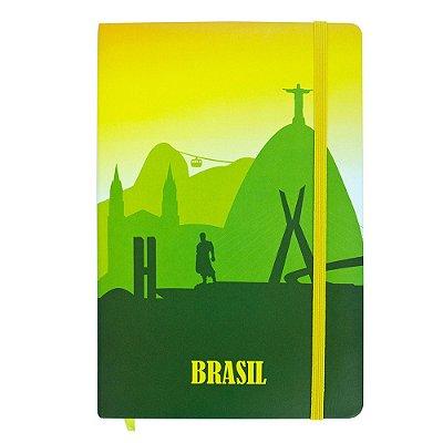 Caderno de anotações tipo Moleskine - Brasil