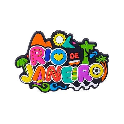 Imã de geladeira ícones colors - Rio de Janeiro