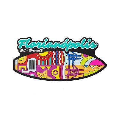 Imã de geladeira prancha - Floripa