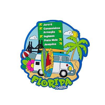 Imã de geladeira férias - Floripa
