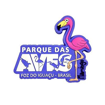 Imã de geladeira emborrachado - Flamingo