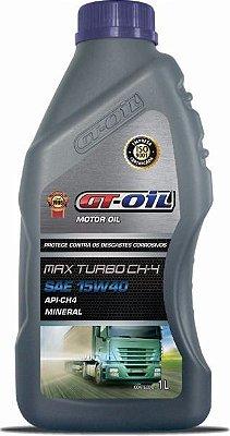 ÓLEO MOTOR GT OIL MINERAL 15W40 API-CH4 1L