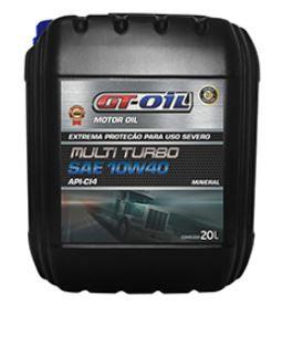 ÓLEO MOTOR GT OIL MINERAL MULTI TURBO 15W40 CI4 BALDE 20L