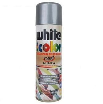TINTA SPRAY ORBI ALUMÍNIO WHITE COLOR 340ML