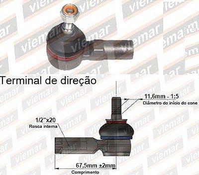 TERMINAL DIRECAO FORD VIEMAR 335040 KA-FIESTA-COURIER