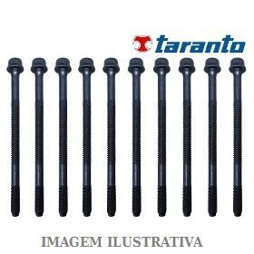 JOGO PARAFUSOS CABECOTE NISSAN TARANTO B903400 MARCH-VERSA