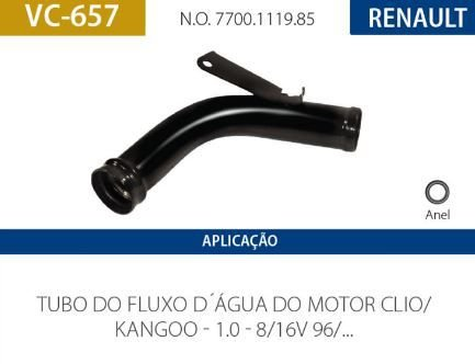CANO D AGUA RENAULT VALCLEI VC657 MEGANE-SCENIC