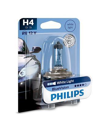 LAMPADA FAROL H4 BLUE VISION PHILIPS 12342BV CARRO