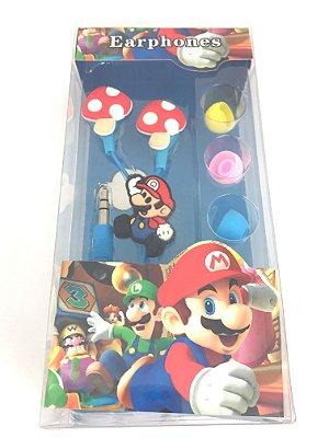 Fone De Ouvido Personalizado Mario Entrada P2 Estampa Sortida