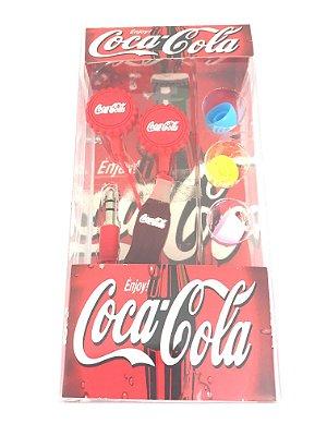 Fone De Ouvido Personalizado Coca-Cola Entrada P2 Estampa Sortida