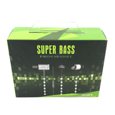 Fone De Ouvido Para Celular Sony Super Bass Cabo Nylon Na Caixa Cor Sortida