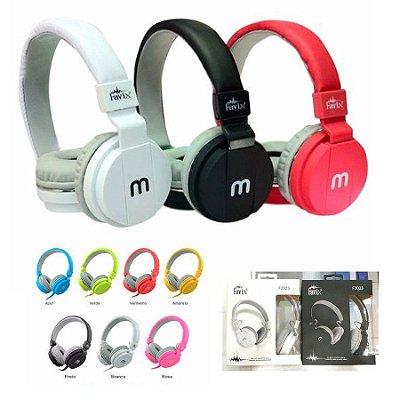 Fone De Ouvido Headphone Mex ou Favix Grande Colorido Masculina Sortida