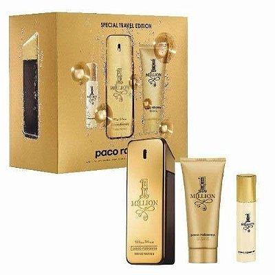 Kit One Million Perfume 100ml + Shower Gel 100ml + Miniatura 5ml