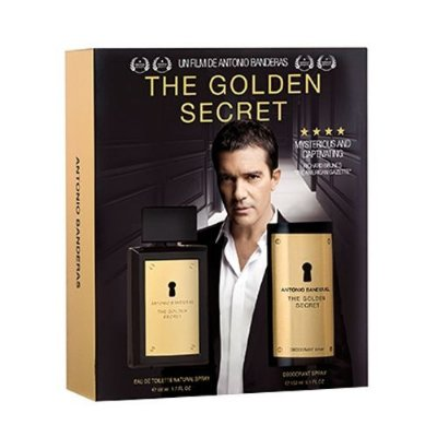 Kit The Golden Secret EDT Antonio Banderas -Perfume Masculino 100ML + Body Spray 150ML