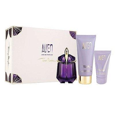 Kit Alien Eau de Parfum Thierry Mugler  - Perfume Feminino 30ml + Shower Gel 50ml + Body Lotion 100ml