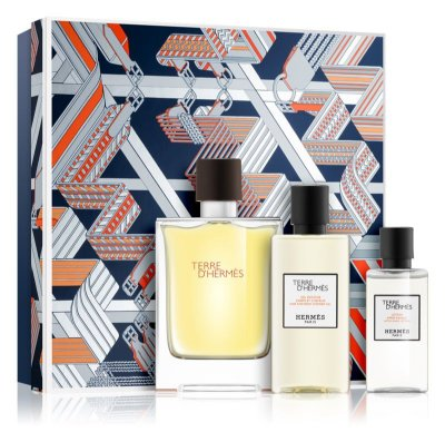 Kit Terre D'hermes EDT Masculino - Perfume 100Ml + Miniatura 12 ml + loção após barba 40 ml
