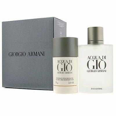 Kit Acqua Di Gio  Eau de Toilette Giorgio Armani - Perfume Masculino 100 ml + Desodorante 75 g