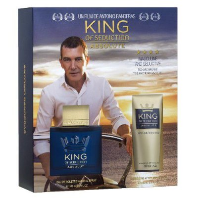 Kit King of Seduction Absolute Eau de Toilette Antonio Banderas - Perfume Masculino - 100ML + Pós Barba - 100ML