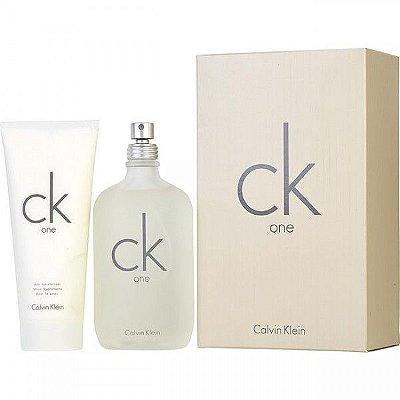 1e629c310a3de KIT - Calvin Klein Ck One - Unissex - Eau de Toilette - Perfume 200ML +