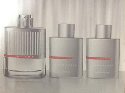 Kit Luna Rossa Eau de Toilette Masculino Prada - Perfume 100ml + Gel de banho 100ML + Pos barba 100ML