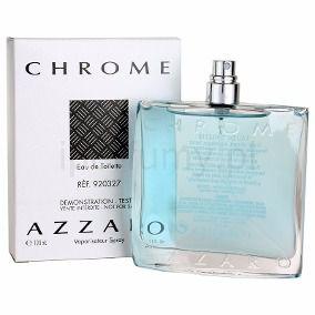 Téster Chrome Eau de Toilette Azzaro- Perfume Masculino 100 ML