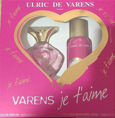Kit Varens Je t'aime Eau de Parfum Ulric de Varens - Perfume Feminino 50ml + Desodorante 125ml