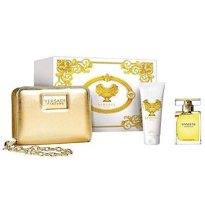 Kit Feminino Versace Vanitas Perfume EDT 100ML + Body Lotion 100ML + Necessaire