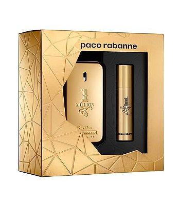 Kit One Million Eau de Toilette Masculino Paco Rabanne- Perfume 50 ML + Perfume 10 ML