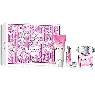 Kit Bright Crystal Versace Eau de Toilette - Perfume Feminino 90 ML + Loção Perfumada 100 ML + Miniatura 10 ML