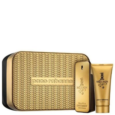 Kit 1 Million Eau de Toilette Paco Rabanne - Perfume Masculino 100 ML + Gel de Banho 100 ML