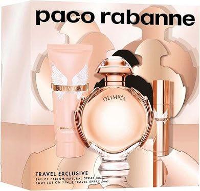 Kit Olympéa Eau de Parfum Paco Rabanne - Perfume Feminino 80 ML + Hidratante Corporal 75 ML + Miniatura 10ML