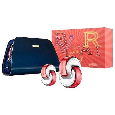 Kit Bvlgari Omnia Coral Eau de Toilette 65ml + Mini 15ml + Necessaire