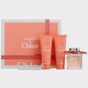 Kit Roses de Chloé Eau De Toilette 75ml + Creme Para Corpo 75 ml + Gel de Banho 75ml