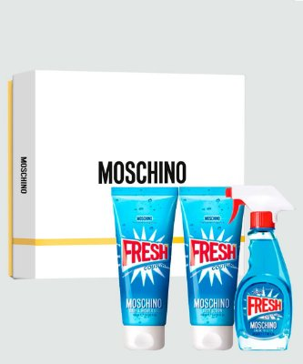 Kit Moschino Fresh Moschino - Perfume EDT 50ml + Gel de Banho 100ml  + Loção Corporal - 100ml