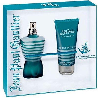 Kit Le Male Masculino EDT Jean Paul Gaultier - Perfume 125ml + Gel de Banho 75ml