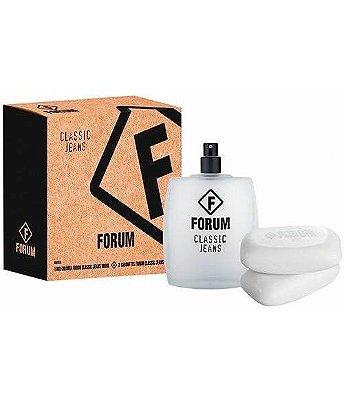 Kit Forum Jeans Forum - Masculino - Eau de Toilette - Perfume 100 ML + 2 Sabonete