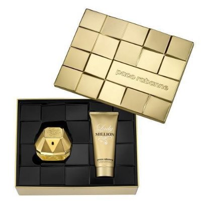 Kit Lady Million Eau De Parfum Paco Rabanne - Perfume Feminino 80ml + Loção Corporal 100ml