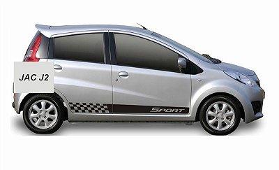 Kit Adesivo faixa lateral tuning  Jac J2 modelo Sport SRT Fita Colante