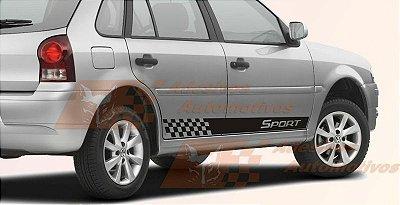 Adesivo faixa lateral VW Gol G2 G3 G4 modelo Sport para 4 portas Fita Colante SRT