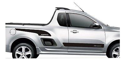 Kit Adesivo faixa lateral tuning Chevrolet Pick-up Nova Montana modelo Sport SRT