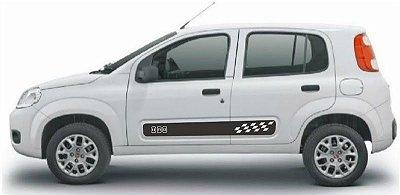 Kit Adesivo faixa lateral tuning Novo Uno 2 e 4 portas modelo Uno
