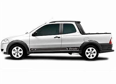 Kit Adesivo faixa lateral tuning  Fiat Pick-up Strada modelo Strada SRT Wolf 1